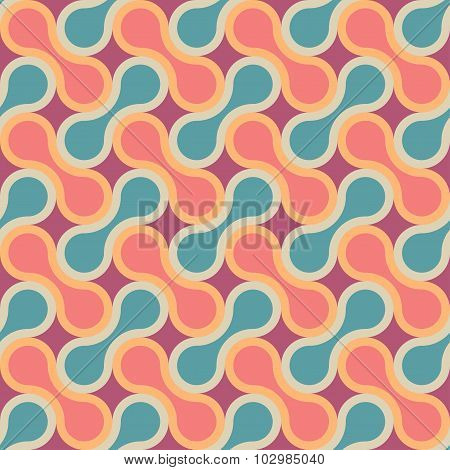 Vector Modern Seamless Colorful Geometry Pattern, Drops
