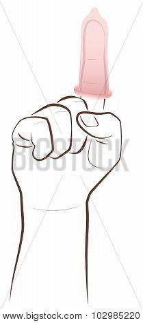 Condom Finger Contraception Advice