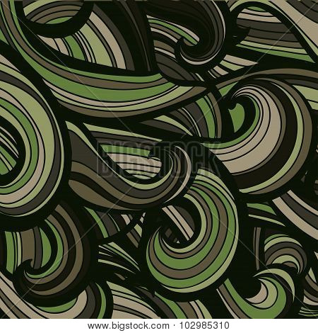 Camouflage military curly pattern background. Vector illustration, EPS