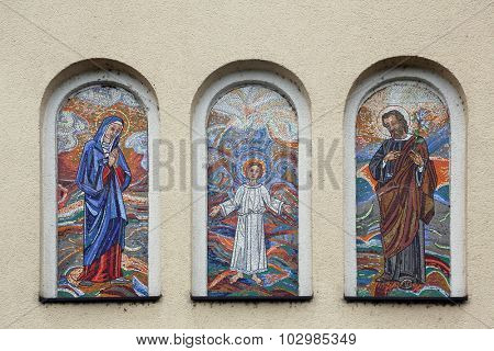 DURMANEC, CROATIA - APRIL 05: Holy Family, parish church of the St. George in Durmanec, Zagorje region, Croatia on April 05, 2014
