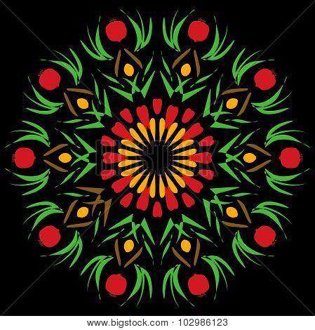 Pomegranate Mandala