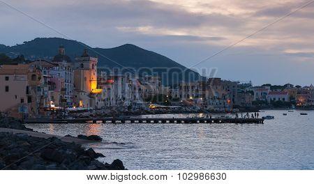 Night Cityscape, Ischia Porto, Mediterranean Sea
