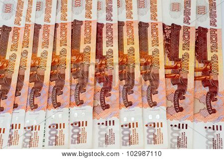 Lot Of Five Thousand Roubles Banknotes