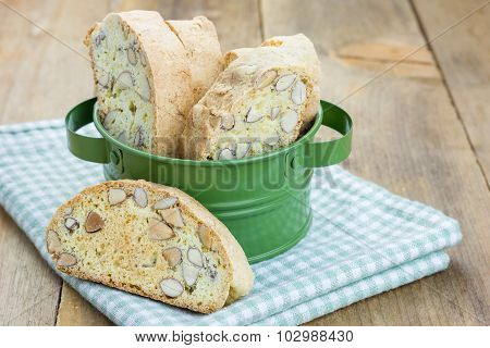 Traditional Italian Homemade Biscotti With Almond