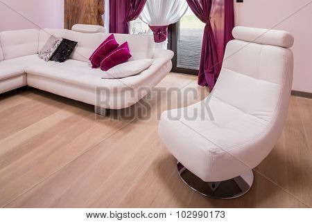 White And Modern Armchair