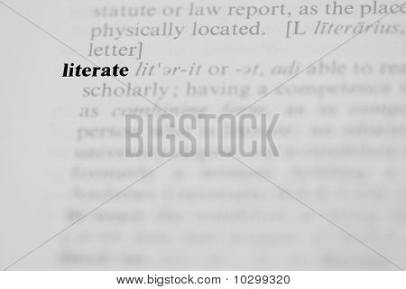 Literate Dictionary Entry
