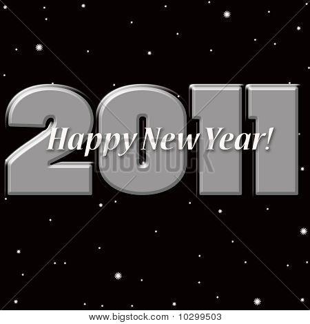 Happy New Year 2011 Night Sky