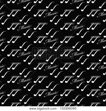 Black And White Music Symbol Tile Pattern Repeat Background