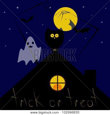 Halloween Night Greeting Card