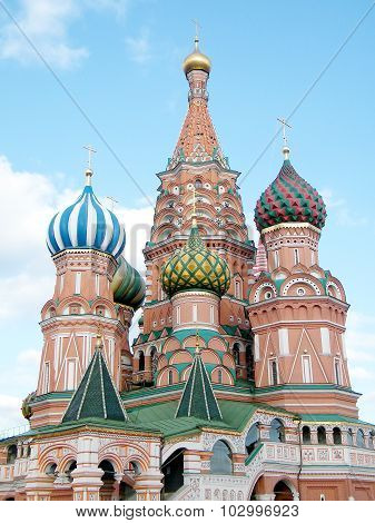 Moscow Towers Of Saint Basil The Blessed 2011