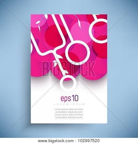 abstract geometric overlapping circles background illustration