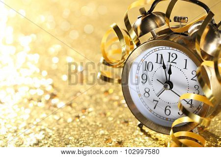 Nearly Twelve O'clock Midnight,New Year Concept.