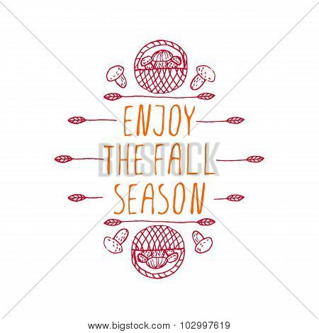 Enjoy the Fall Season - typographic element