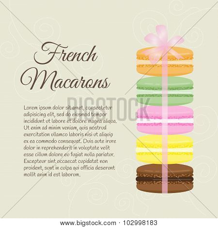 Background With Macarons.
