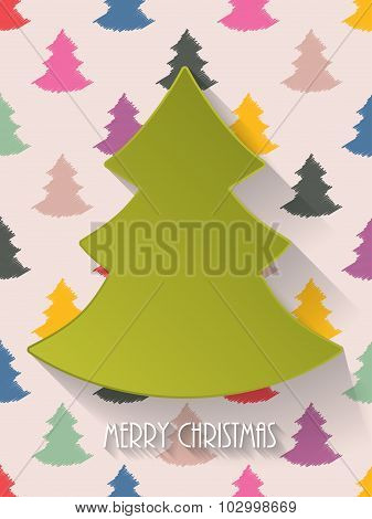 Christmas Greeting With Decorative Background
