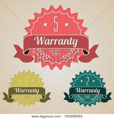 Various Flat Warranty Icons