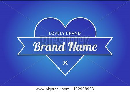 Heart icon vector logo brand concept