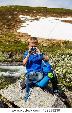 Kid Outdoors In Nature