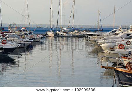 The Marina Aregai Marina Is Located In Santo Stefano Al Mare In The Province Of Imperia In Liguria