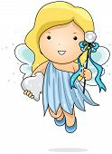pic of tooth-fairy  - Illustration of a Tooth Fairy Carrying a Tooth - JPG