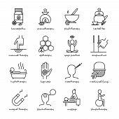 Постер, плакат: Alternative Medicine Icons Set