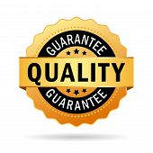 Quality guarantee icon poster