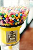 picture of gumball machine  - vintage - JPG