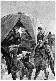 stock photo of camel-cart  - When the dear boy came near our kibitka - JPG