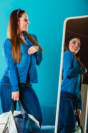stock photo of denim wear  - Fashion and shopping - JPG