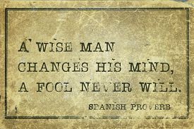 picture of wise  - A wise man changes his mind  - JPG