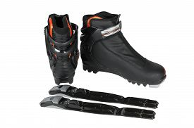 picture of ski boots  - boots with bindings for cross - JPG