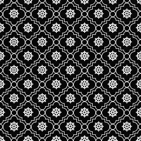 foto of dharma  - Black and White Wheel of Dharma Symbol Tile Pattern Repeat Background that is seamless and repeats - JPG