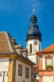 image of trinity  - Lautturm tower of the Holy Trinity Church in Speyer Germany - JPG