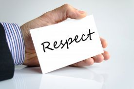 picture of respect  - Respect text concept isolated over white background - JPG