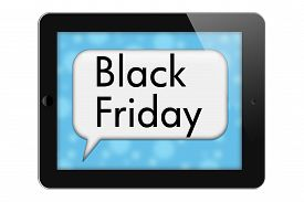 picture of friday  - Black Friday Sale Tablet with words Black Friday in Text Bubble isolated on a white background - JPG