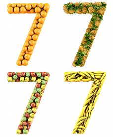 stock photo of number 7  - Number 7 - JPG