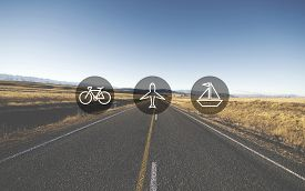 pic of transportation icons  - Transportation Transport Icon Travel Journey Trip Concept - JPG
