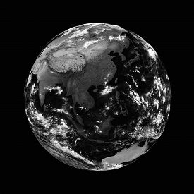 pic of southeast  - Southeast Asia on black planet Earth isolated on blackbackground - JPG
