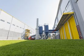 picture of combustion  - New modern industrial waste plant from the outside - JPG