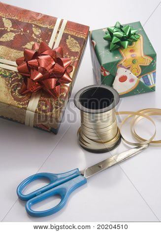 Preparar la caja de regalo para las fiestas
