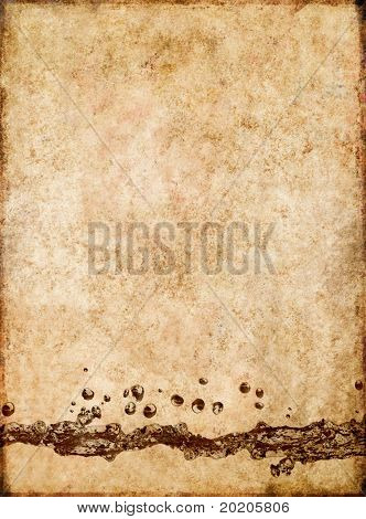 lovely brown background image with interesting texture, a close-up of water and plenty of space for text