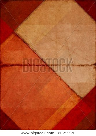 geometrische rot Hintergrundbild mit interessanten erdig Textur