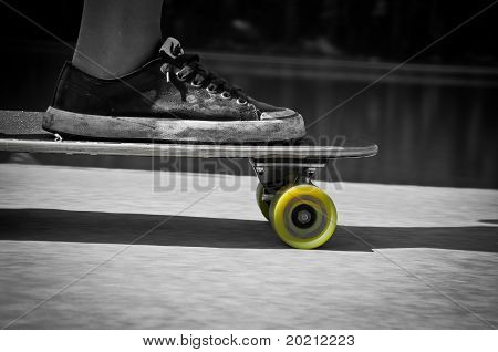 Longboarding Close-up