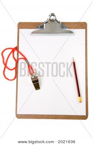 Clipboard And Whistle