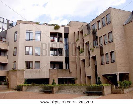 Modern Apartment Building, Urban.