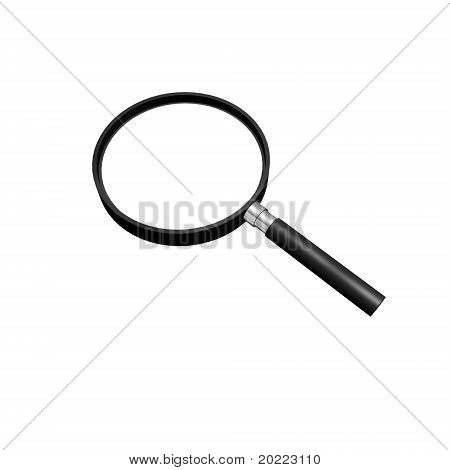 a magnifying glass focusing