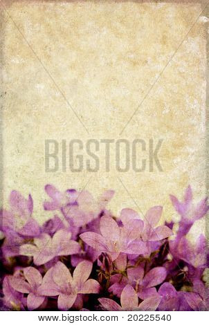lovely background image with purple floral elements