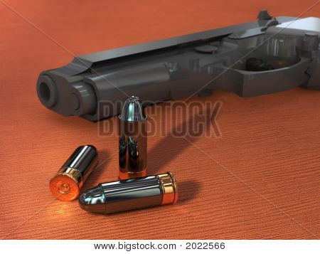 Gun And Bullets