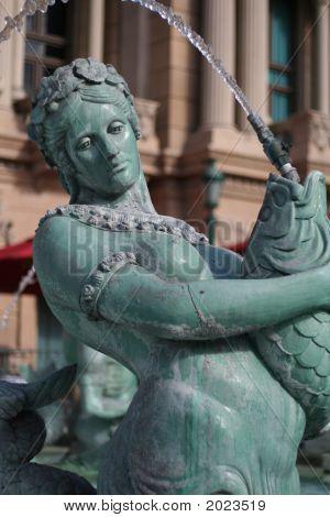 Fountain Statue At Paris Hotel, Las Vegas