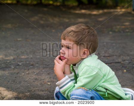 Thoughtful Little Boy